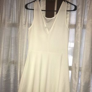 Brand new white textured skater dress